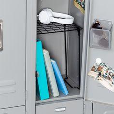 Locker Mirror, Locker Shelves, Diy Locker, Shelving, Locker Stuff, Gym Lockers, School Lockers, Cute Locker Ideas, School Locker Decorations