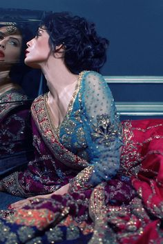 Tena Durrani bridal // The colors and photography is stunning! Makeup by the amazing Natasha Salon.