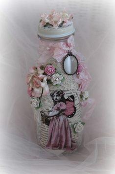 shabby chic faerie wishes bottle wedding by HerWhimsicalMusings, $25.00