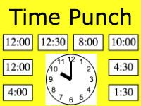 Click the correct digital clock that matches the analog clock in the center. Click as many as possible before 5 minutes (300 seconds) runs out. If you click incorrectly you lose a possible digital clock spot.