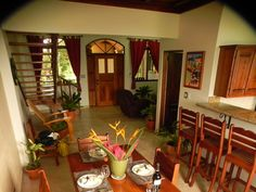 Shot of the downstairs area in one of the brand new one bedroom condos at Plaza Tierra Pacifica in Playa Junquillal, Guanacaste Costa Rica.