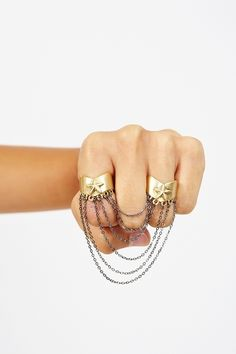 Gold Star Chained Ring  http://www.nastygal.com/whats%2Dnew/gold%2Dstar%2Dchained%2Dring?utm_source=pinterest_medium=smm_campaign=pinterest_nastygal