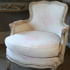 Gorgeous Chair Upholstered In Pink Sophia By Kate Forman x
