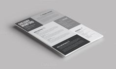 Check out 6 Shades CV/Resume by Designoir on Creative Market