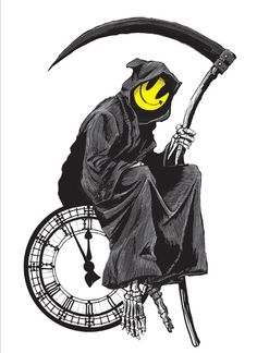 Banksy Grim Reaper Smiley Face Have A Nice Day