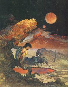 John Carter of Mars - illustration by Frank Frazetta                                                                                                                                                                                 More