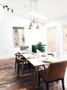 Modern Dining Room makeover | Before + After - A Modern House Gets A Makeover From The Ground Up