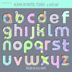 Baby blocks alphabet and numbers clip art in by ValerianeDigital
