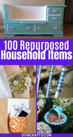 Repurpose and Reuse Broken Household Items with this list of 100 incredible ideas! There are tons of great ways to make junk into treasure here! These upcycled craft ideas are incredible! You'll love the fun ways to repurpose broken items and turn them into home decor! #Upcycled #Repurposed #Recycled #Crafts #EasyCrafts Diy Crafts Hacks, Diy Home Crafts, Easy Crafts, Crafts From Recycled Materials, Upcycled Crafts, Diy Projects Using Tin Cans, Medicine Bottle Crafts, Family Crafts, Craft Items