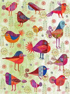BIRDS poster by Nancy Nicholson