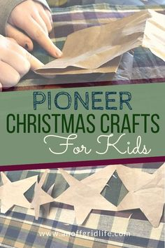 Looking for old-fashioned pioneer Christmas crafts to do with your kids this holiday season? Here are a few to get you started. Choose one or more of these fun pioneer crafts for kids to make memories and ornaments this holiday season. Christmas Crafts For Kids To Make, Christmas Activities For Kids, Homemade Christmas, Simple Christmas, Kids Christmas, Holiday Crafts, Crafts To Make, Kids Crafts, Stick Crafts