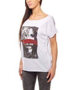 fdd564103fa70a Druckshirt Afrika-Shirt Damen Weiß rick cardona