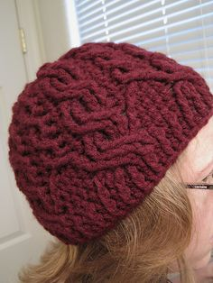 AAHHHH! I just screamed! You have NO IDEA how long i have been searching for a cabled hat pattern for CROCHET!!!