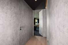 Hidden doors beton structure | Drzwi ukryte ze strukturą betonu