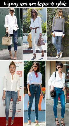 Estilo Meu - Consultoria de Imagem. Produções com camisa branca: looks estilosos para o dia a dia