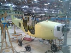 Vulcanair Aircraft - Nápoles Itália Montagem do monomotor V1
