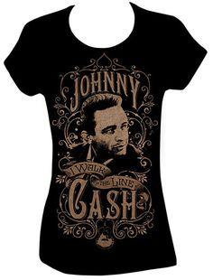 Johnny Cash Shirt : Walk the Line - Photo