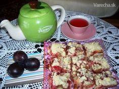 Slivkový koláč s mrveničkou (fotorecept)