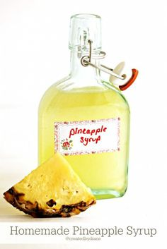 turn a fresh pineapple into a delicious syrup to put on pancakes, lemonade for a fun extra flavor, ice cream and a delicious margarita!: