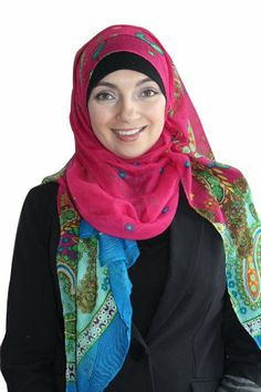 Extra Wide Hijab Paisley (Pink). The colours that cover the hijab in a fabulous paisley design are sure to make you smile and feel amazing! This is a great hijab for your lunch date or any daytime outing. These hijabs are larger than the usual hijab which allows them create more coverage as well as volume. Material: Cotton/polyester blend. More at http://suliaszone.com/extra-wide-hijab-paisley-pink/