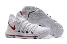 bb9328dccf28 Shop Nike KD 10 Nike KDX Red White Blue presented at one of the world s  leading online stores for luxury fashion.