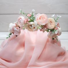 Handcrafted hair accessories, headbands & bows made with love for the little ones in the house. Light Pink Flowers, All Flowers, Flower Crown Hairstyle, Beautiful Flowers Pictures, Pink Love, Floral Crown, How To Make Bows, Flower Crowns, Peach Tattoo