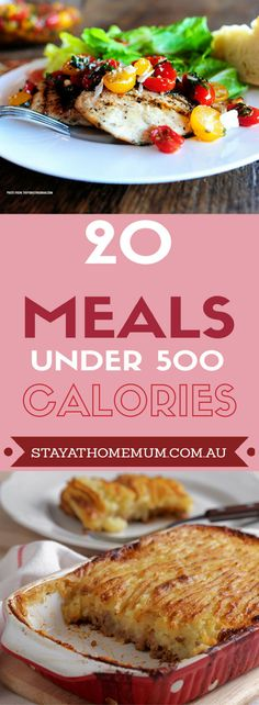 20 Meals Under 500 Calories | Stay at Home Mum
