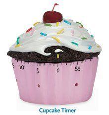 Cupcake Kitchen Timer Baking 60 minute Home Decor :)