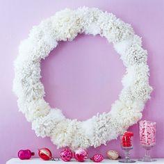 ponpon wreaths diy crafts