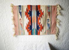 Small Rug Carpet Southwestern Indian Blanket by WayOutWestVintage, $24.00