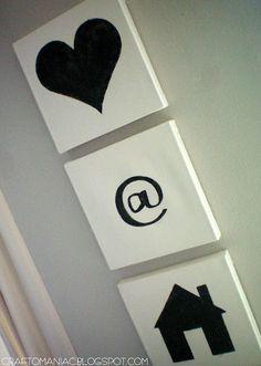 "DIY ""love at home"" canvas art. #valentines #decor #canvas"
