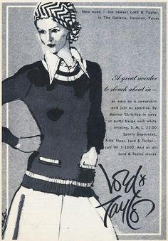 Lord & Taylor, 1970s, Illustrator, Ads, Fashion, Moda, Fashion Styles, Illustrators, Fasion
