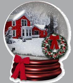 Snow globe animation