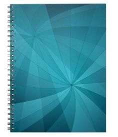 Blue abstract background notebook $14.35 *** Blue abstract twisted background - notebook