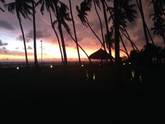 Sunset over the Indian Ocean @ Reef Villa 28th August 2014