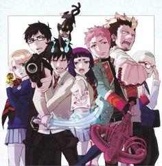 Ao no Exorcist (Rin Okumura, Yukio Okumura, Shiemi Moriyama, Ryuji Suguro, Izumo Kamiki, Konekomaru