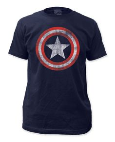 Captain America Distressed Shield Men's T-Shirt