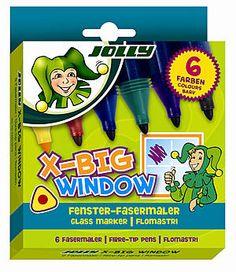 Jolly X-BIG WINDOW. Am Fenster malen - und wieder wegwischen!
