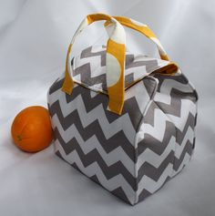 Custom Insulated Bento Box Carrier / Lunch Tote / Lunch Bag - Reusable - Washable - Choose Your Fabric by binskistudio @Etsy