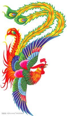 Phoenix Chinese, Chinese Dragon, Chinese Style, Chinese Art, Nail Art Photos, Chinese Mythology, Phoenix Art, Chinese Embroidery, Chinese Culture