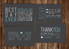 Hey, I found this really awesome Etsy listing at http://www.etsy.com/listing/160932183/best-day-ever-modern-wedding-invitation