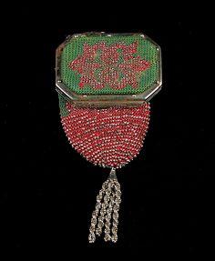 Coin purse Date: fourth quarter 19th century Culture: American Medium: Metal, silk, leather