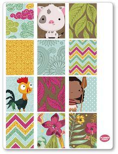 Island Princess Full scatole Planner adesivi per Erin Condren