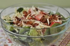 Spinach Salad will quickly become your signature dish - the one everyone wants you to bring to the next potluck. Cranberry Spinach Salad, Bacon Spinach Salad, Spinach Salad Recipes, Spinach Strawberry Salad, Appetizer Salads, Appetizer Recipes, Appetizers, Healthy Eating Recipes, Healthy Salads