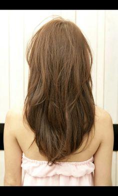 Layered v shaped haircut!