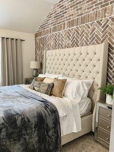 Master Bedroom Makeover – Handmade Haven   DIY Room Makeover, Buy My House, Bedroom Makeover, Bedroom Refresh, Diy Home Decor Bedroom, Bedroom Inspirations, Small Room Bedroom, Faux Fireplace, Master Bedroom Makeover
