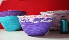 Körbchen aus Stoffresten / Baskets made from scraps of fabric / Upcycling