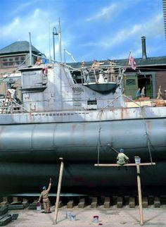 U boot type VII, 1/32 scale.