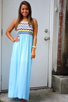 Summer Skies Maxi Dress: Multi