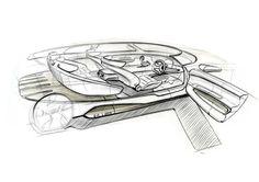 KIA Rocket interior concept 4seats luxury  crossover car Sketched by Doosung Jeon